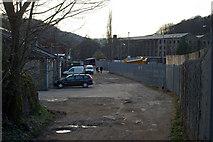 SE0026 : Track past Calderdale Council depot at Hawksclough by Phil Champion