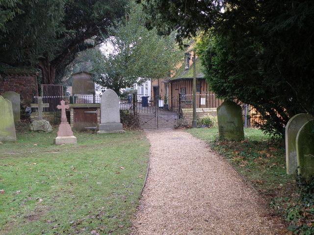 St. James churchyard path, Hemingford Grey