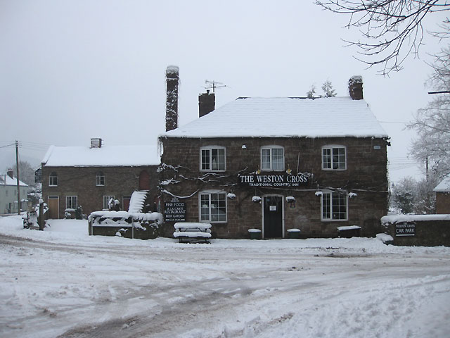 The Weston Cross in winter