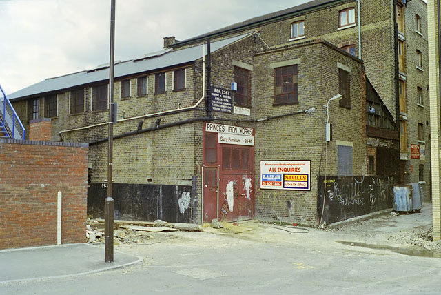 Princes Iron Works, Rotherhithe, early 1988