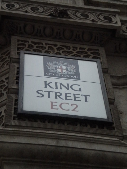 Street sign, King Street EC2