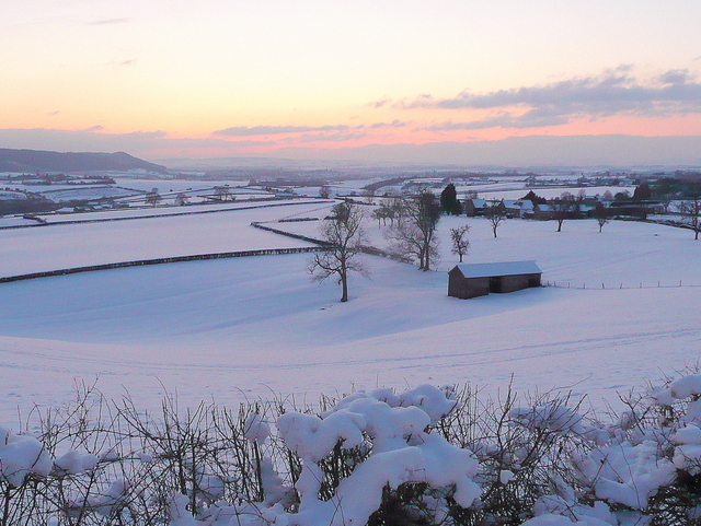 Wintery view over Felhampton