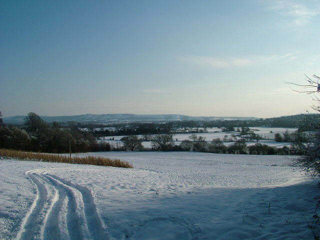 South Downs across the Rother