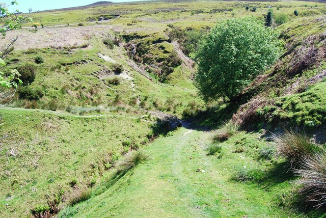 "Small stream, big ""V"" shaped valley"