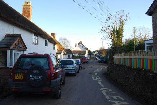 Lane on the edge of Washford