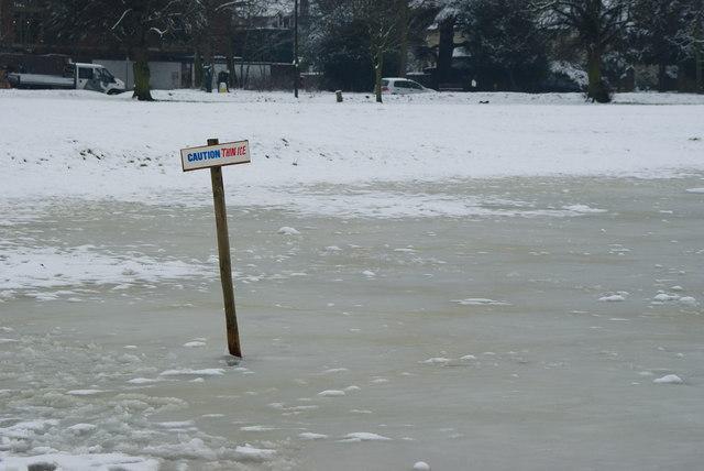Caution - thin ice