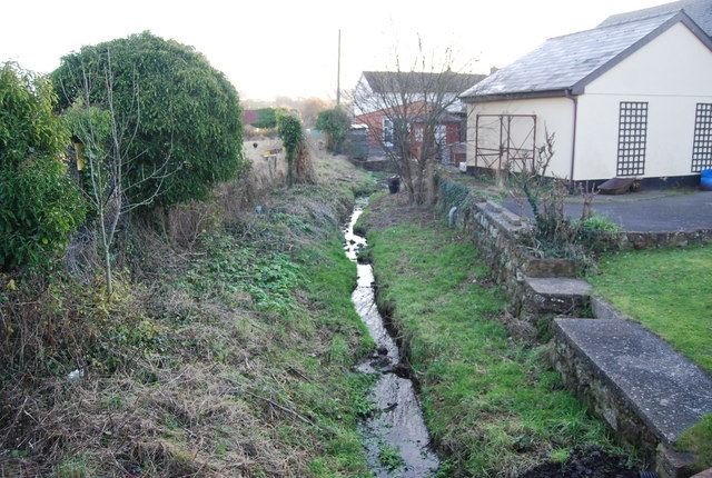Small ditch off the A39, Washford