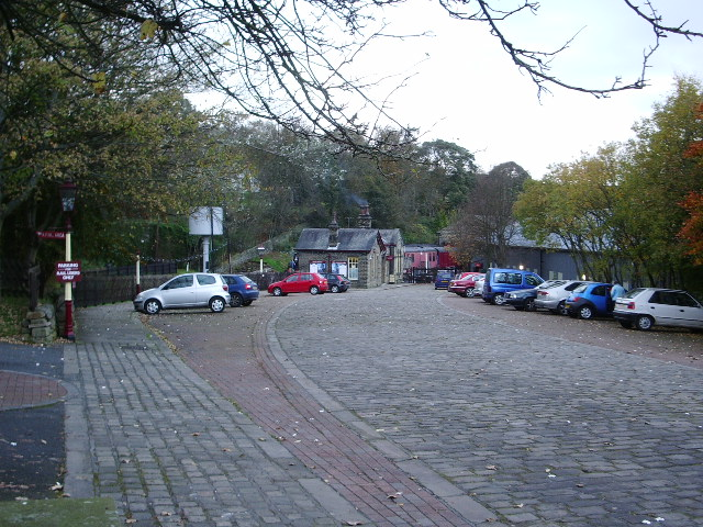 Approach road to Oxenhope Station