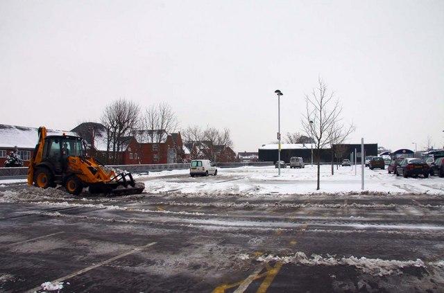 Sainsbury's car park in Wantage