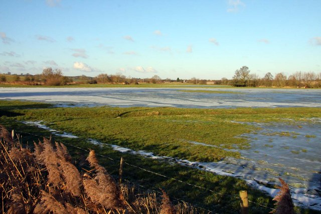 Flooded field at Somerton