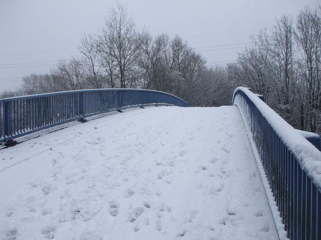 Footbridge over Eastern Ave, Cardiff