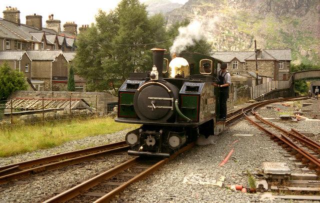 'Double Fairlie' locomotive at Blaenau Ffestiniog