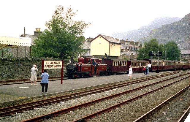 Festiniog Railway train at Blaenau Ffestiniog