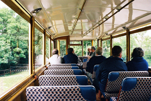 Top deck interior, London E1 car