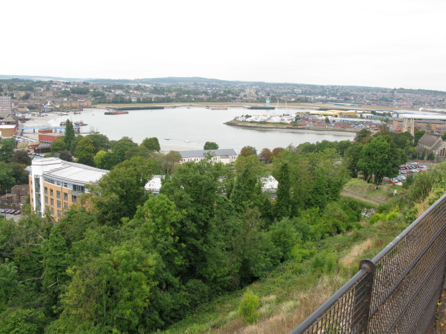 The Medway and Chatham Ness from Fort Amherst