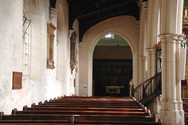 All Saints, Carshalton - North aisle