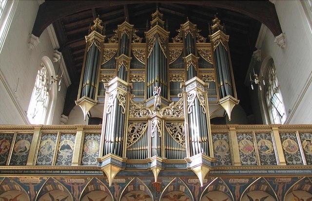 All Saints, Carshalton - Organ case