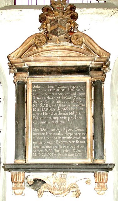 All Saints, Carshalton - Wall monument