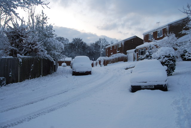 St Michael's Rd in the snow