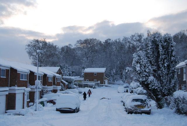 A wintery scene in St Michael's Rd