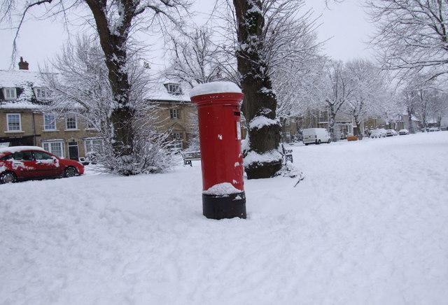 Post box on Church Green