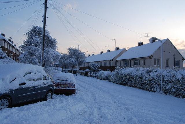 Snow in Tedder Rd