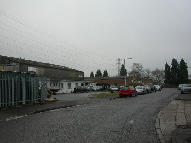 West Moors, trading estate