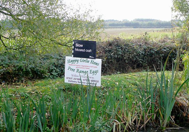 Canalside produce sign near Alrewas, Staffordshire
