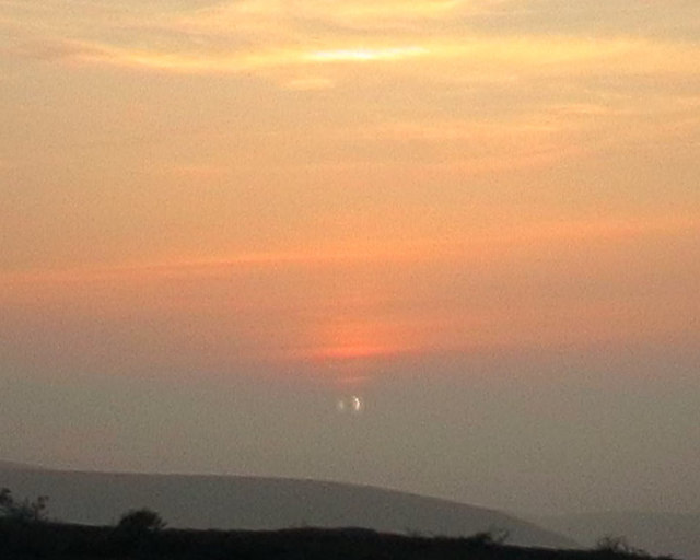 Annular eclipse from Tom Mor - first sight