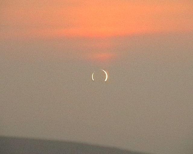 Annular eclipse from Tom Mor  - near maximum