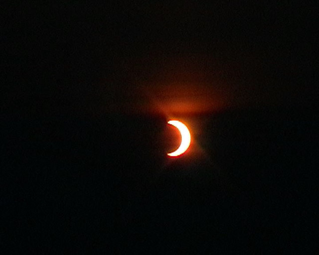 Annular eclipse from Tom Mor - past maximum