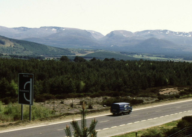 The A9 north of Aviemore