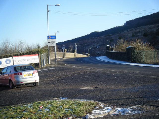 Bridge over River Rhondda on Llwyncelyn Road.