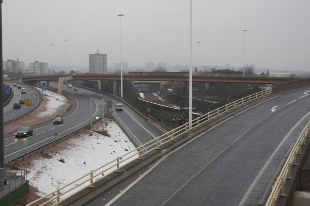 Dewsbury Road Viaduct to M621 Westbound
