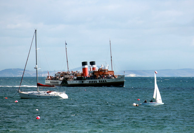 SS Waverley in Swanage Bay