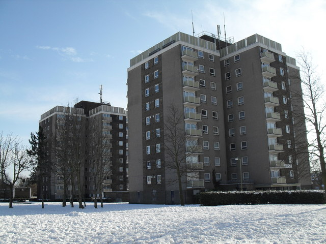 Tower blocks in Lockersley Road
