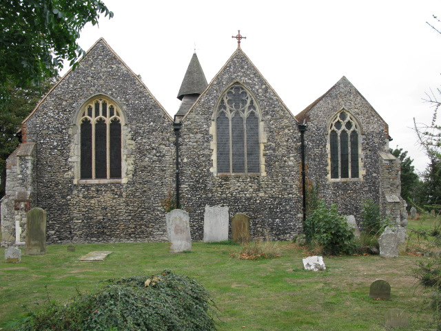 The eastern end of St Mary's church, Upchurch