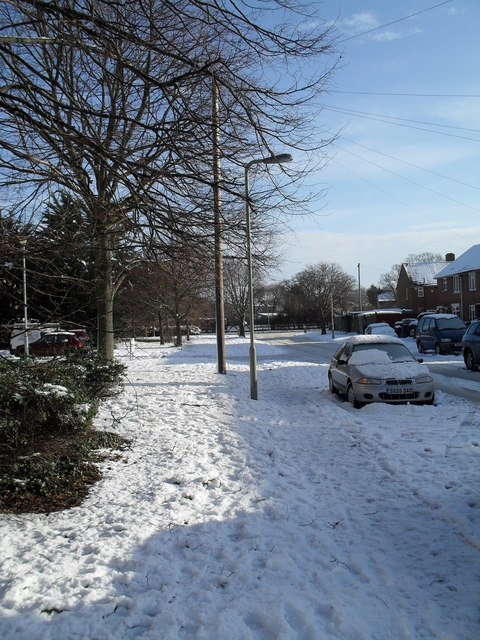 Heavy snow in Lockersley Road