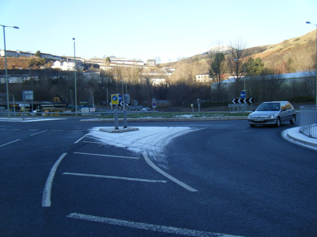 Wattstown roundabout on the A4233