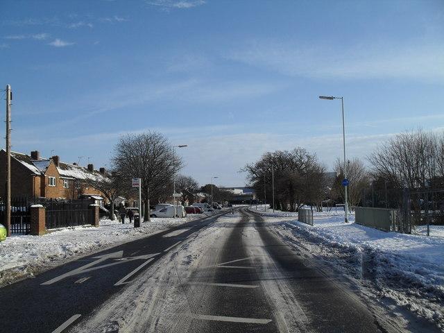 Treacherous conditions in Crossland Drive