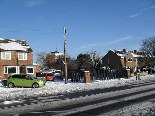 Looking from Crossland Drive towards Chichester House