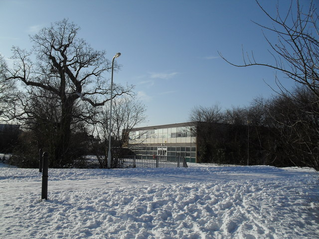 Looking from Crossland Drive towards the education offices