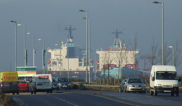 The A8 in Port Glasgow