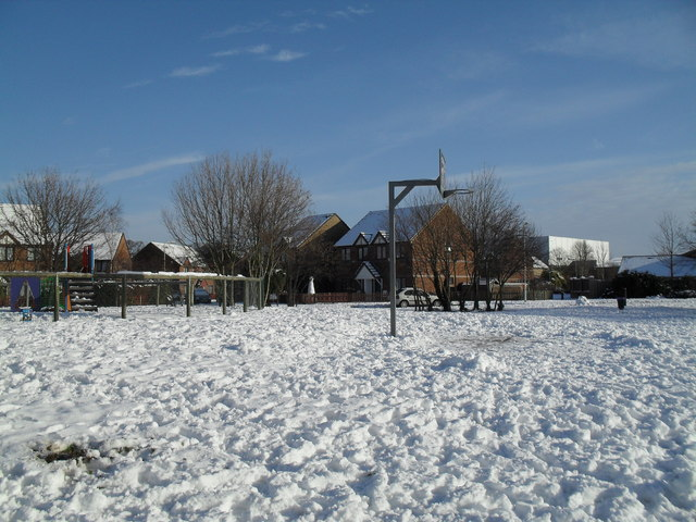 Basketball hoop in Crossland Rec