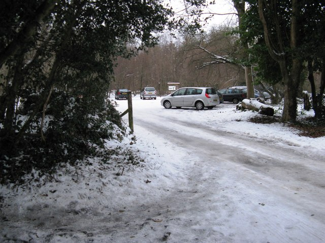Car park on the Slindon Estate