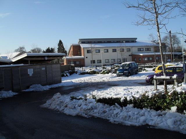 A snowy car park at Hollybank