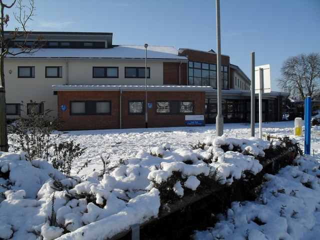A snowy scene at Children's Services in Lavant Drive