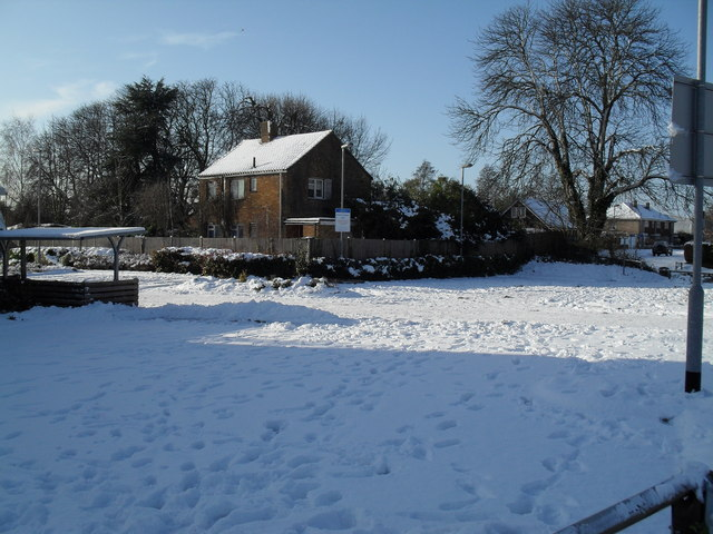 Looking from Lavant Drive across to a house in Leigh Road
