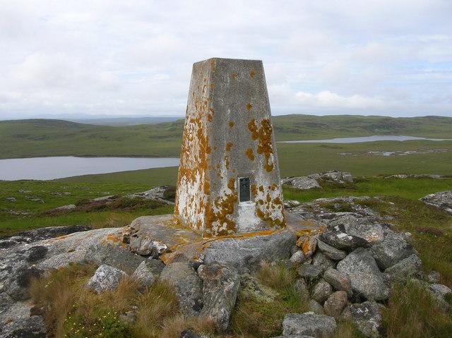 Trigpoint on Beinn nam Bo, Sutherland