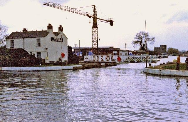 Swing bridge at Saul Junction, Gloucester & Sharpness Ship Canal